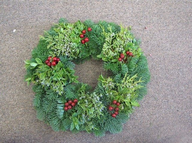Candle Berry Wreath