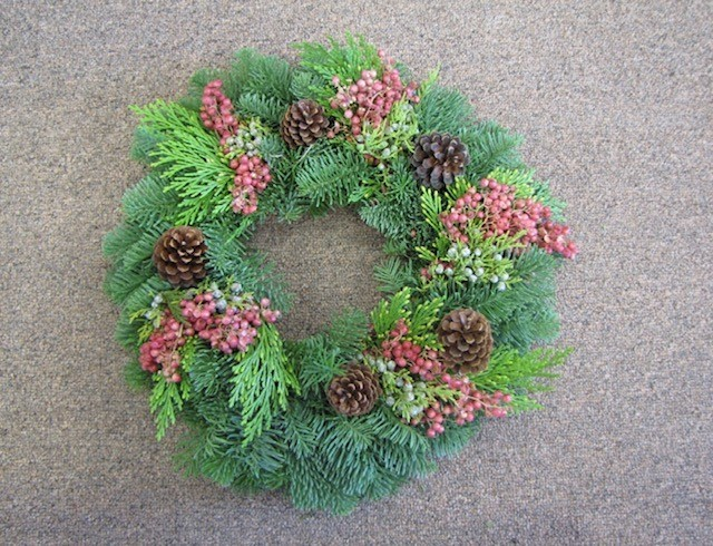 Pepperberry Candle Wreath
